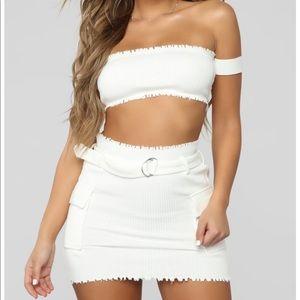 White skirt set